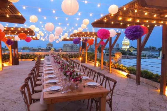 One Big Table for an Intimate Wedding By Leidis Leguia on Pagephilia
